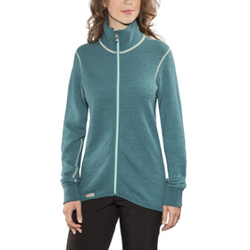 Woolpower 400 Colour Collection Full Zip Jacket Unisex Petrol/Champagne